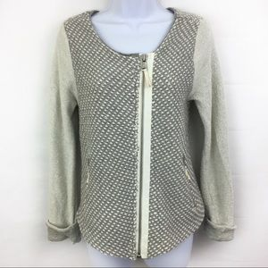 Lou & Gray Tweed Motorcycle Sweater Jacket